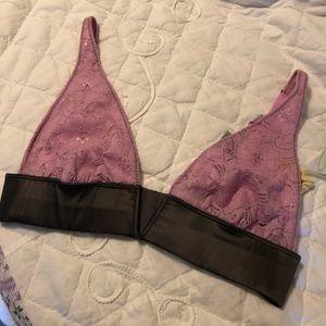 Free People light purple lace bra
